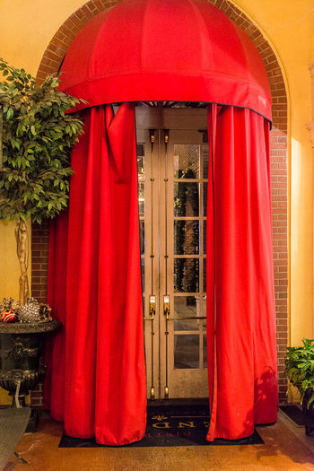 Architecture Built Structure Day Evening Indoors  No People Plants Red Red Drapes