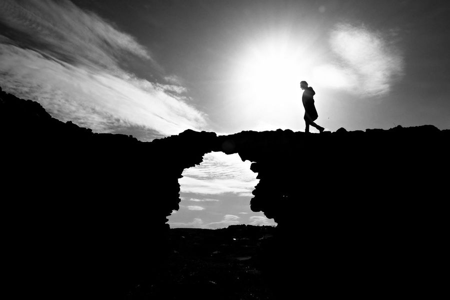 Silhouette One Man Only EyeEmNewHere The City Light Landscape Photography Blackandwhite Wintersun EyeEm Gallery Fashion Clouds And Sky One Person Men Silluettes And Sky Sunlight Travel Abandoned Alone Black And White Silhouette One Man Only One Person Adult People Full Length Standing The Great Outdoors - 2018 EyeEm Awards