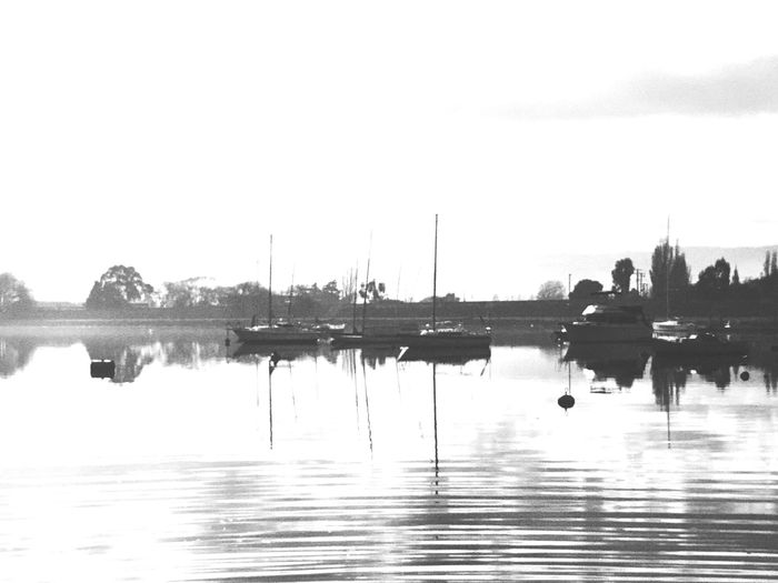Bnw_friday_eyeemchallenge Land And Sea Black Blackandwhite Black And White Black & White Blackandwhite Photography Black&white Black And White Photography Blackandwhitephotography Black And White Collection  Bnw Bnw_collection B&w Monochrome Boats Misty Misty Morning Peace And Quiet Peaceful View Peaceful Peace Calm Calm Water IPS2016White