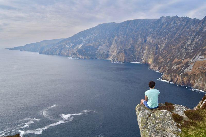 Sea Sky Scenics Outdoors Mountain Nature Cliffs Slieve League First Eyeem Photo EyeEmNewHere