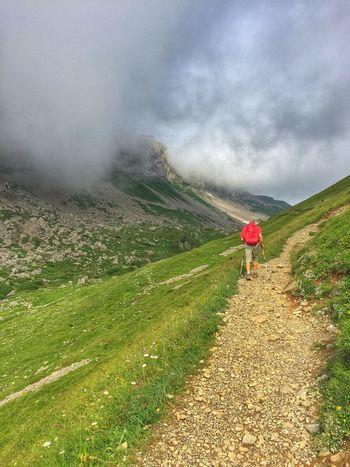 The Wanderer Wanderlust Wandern Austria Hoher Ifen Mountain Landscape Landscape_photography Holiday