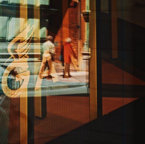 The Street Photographer - 2017 EyeEm Awards Reflection Real People Walking Window Lifestyles People Sebastianriegerphotos Streetphotography Blurred Motion