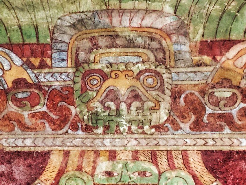 México antiguo Mexico Pinturas Ruinas Teotihuacán Pyramids Templo Castillo Quetzalcoatl