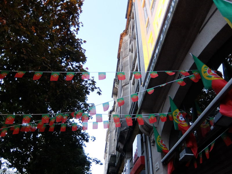 Euro 2016 Flags Green & Red Porto Portugal Street Decoration