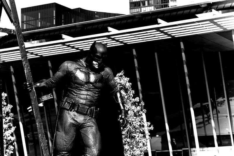 Batman Cosplay Black And White