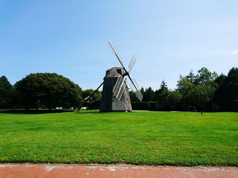 Grass Green Color Outdoors Sky No People Day Nature Long Island Clear Sky Tranquility Vacations Sunny Windmill Summertime Sunnuday Sunday Adventure Travel South Hampton, NY