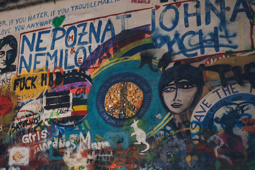 More: PART I: https://barbara-duchalska.blogspo PART II: https://barbara-duchalska.blogspo John Lennon's Wall Prague Architecture Art And Craft Backgrounds Built Structure Communication Creativity Full Frame Graffiti Human Representation Indoors  Male Likeness Message Multi Colored Mural No People Paint Poster Representation Text Wall - Building Feature Western Script