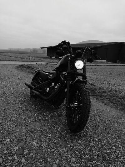 Töff black Custom Outdoors Traffic Harley Davidson Sportster Mens World Sound