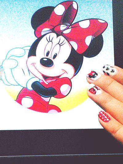 Disney Minimouse Nailart  Polkadots Love My Nails :*