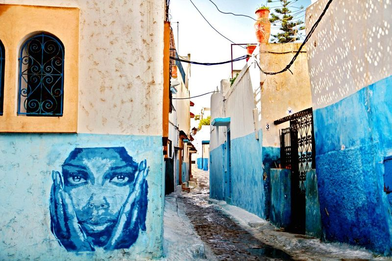Morocco Rabat Oudaya Oudayas Blue Old Town Medina Check This Out Hello World Street Art