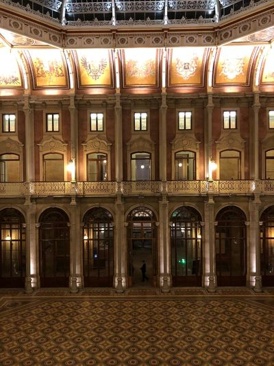 Palácio Da Bolsa Portugal Porto Palace Architecture Built Structure Illuminated Building Exterior Night Lighting Equipment No People Mansion