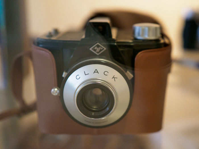 "Agfa ""Clack"" Vintage Camera Close-up Technology Photography Themes Camera - Photographic Equipment Selective Focus Indoors  Photographic Equipment Lens - Optical Instrument Focus On Foreground Retro Styled Camera No People Activity Nostalgia Single Object Still Life Photographing Number Agfa Agfa Clack Vintage Camera"