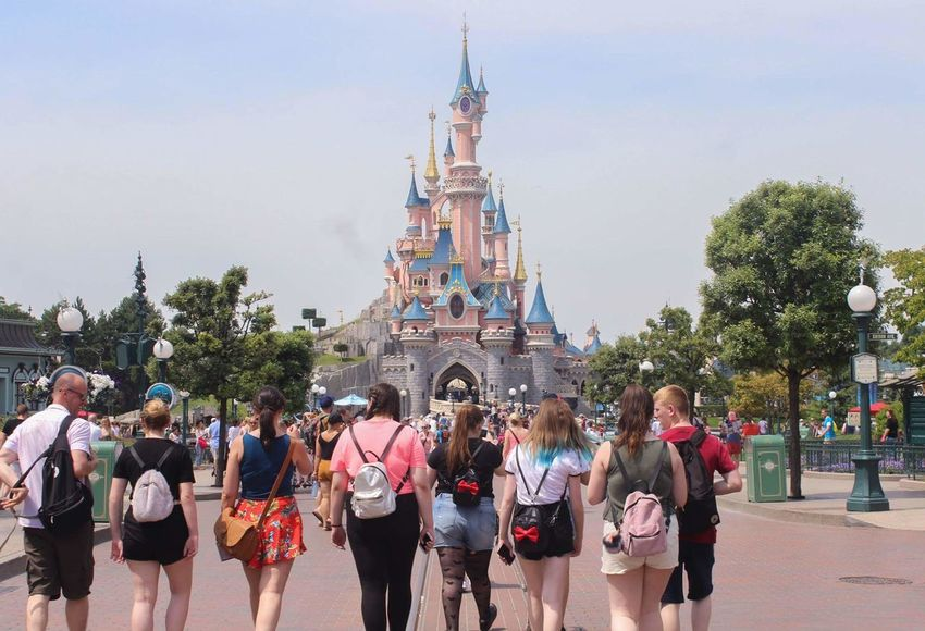 Your Ticket To Europe Large Group Of People People Adult Crowd Tree Leisure Activity Outdoors Sky Adults Only Men Day City Architecture Young Adult Only Men Paris Disney Disneyland Disneyland Paris Disneylandparis