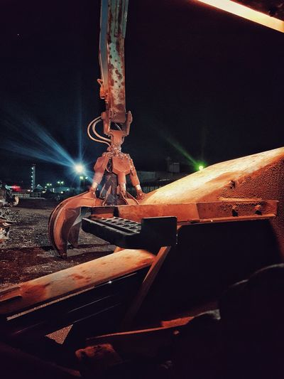 Metal Industry Crane Steel Factory Outdoors No People