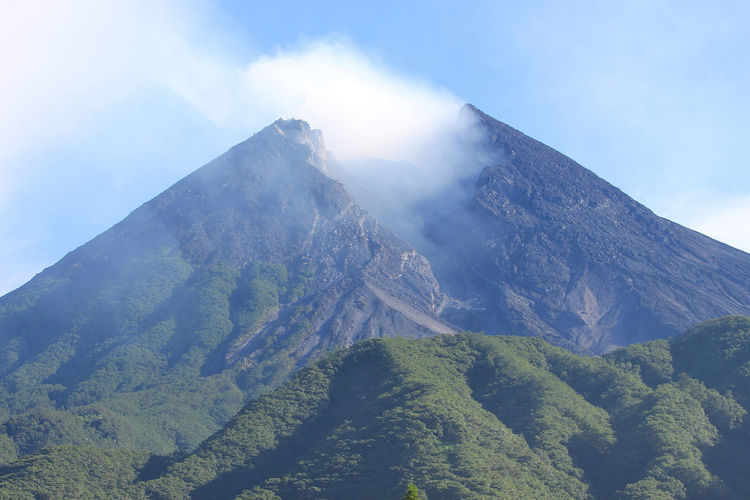 Merapi Volcano Merapi Volcano Beauty In Nature Environment Mountain Mountain Peak Nature No People Outdoors Scenics - Nature