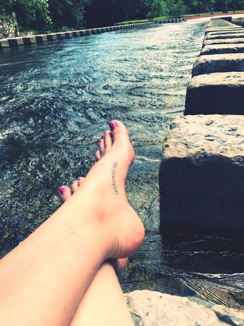 The unbreakable even when broken is healed Neverstopexploring  Barefoot Tattoos Water Outdoors Power Strength Woman 1000 Words Tennessee Girl In Texas Relaxation