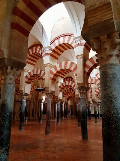 Religion Religious Architecture Religion And Tradition Architecture Architectural Feature Architecturelovers Architectural Detail Indoors  Arch Architecture Travel Destinations Low Angle View Place Of Worship Built Structure Architectural Column Illuminated No People
