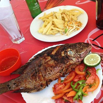 Samaki for lunch... Arusha Tanzania MyAfricanVacation Backtomyroots
