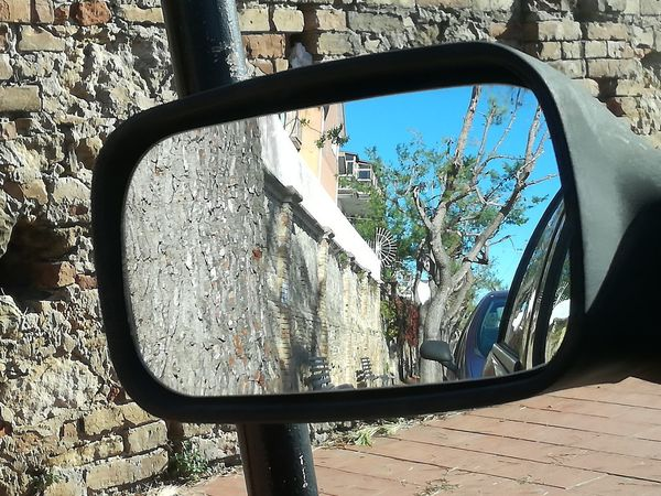 Driver's reflections collection Italy🇮🇹 Lillireality Car Transportation Side-view Mirror Reflection Mode Of Transport Vehicle Mirror Day Land Vehicle No People Close-up Outdoors Abstract Reflections Mobilephotography Driver's Reflections Collection Urbanphotography No Filter No Edit The Purist (no Edit, No Filter) From My Point Of View Daylight Photography Reflection Photography Reflection In The Mirror