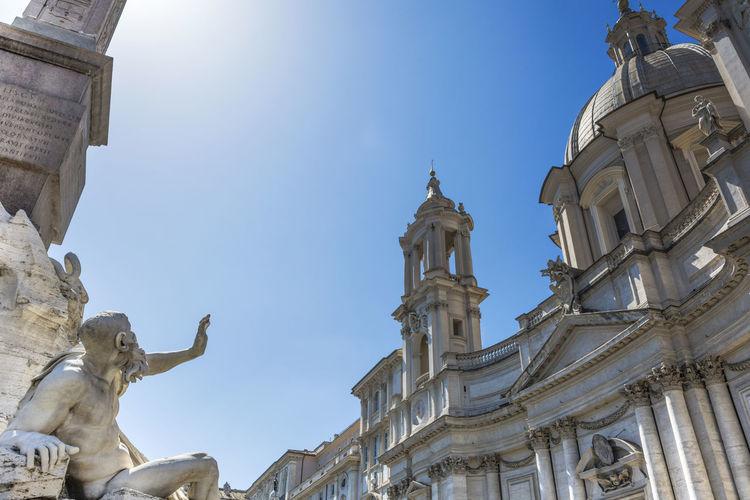 Church Of Santagnese At Piazza Navona Against Sky