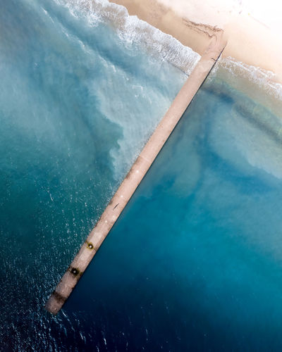 Aerial view of a beach in cannes la bocca, france