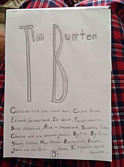My Art... My Fav♡ Tim Burton!! Burton Films
