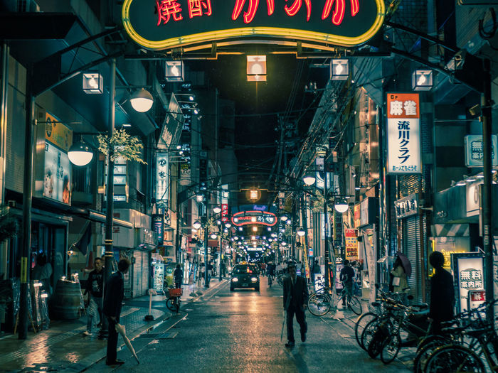 Hiroshima Cinematic Cinematic Photography Japan Japan Photography Nightphotography Architecture Bicycle Building Exterior Built Structure City Crowd Hiroshima Illuminated Large Group Of People Men Neon Night Outdoors People Real People Street Streetphotography Transportation