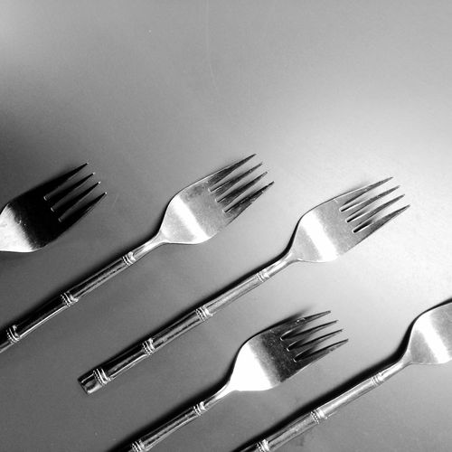 March of the Forks Fork Still Life Eating Utensil silver gray Medium Group Of Objects Simplicity Repetition Indoors  No People