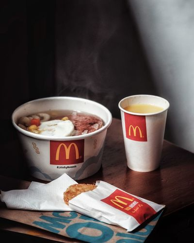 Morning Mcdonalds Food And Drink Cup Drink Coffee Coffee - Drink Mug Coffee Cup Table Close-up Freshness Food Indoors
