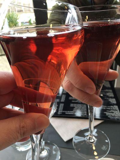 Cheers Wine Wineglass Aperitif Lunch Lunch Time! Kir Granville Normandie