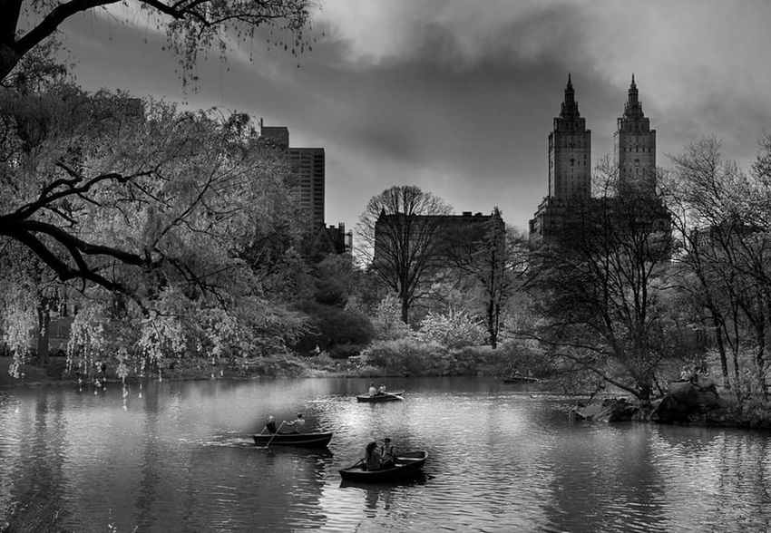 Skyscraper CentralPark New York City Urban Skyline Lake Black And White Manhattan Mood Atmopshere Eyeemphotography The Week On EyeEm EyeEm Best Shots Fine Art Photography EyeEm Masterclass Travel Destinations Been There. Lost In The Landscape Black And White Friday