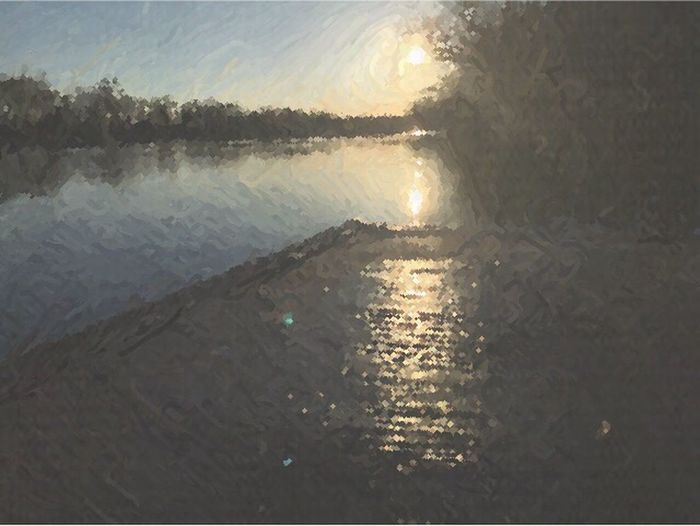 Dock At Sunrise Sunrise The James River @ Robious Landing