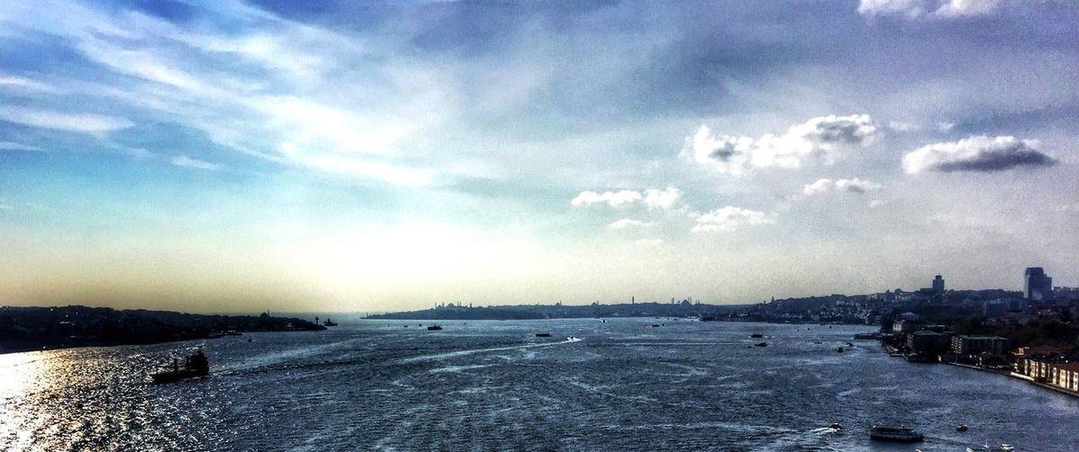 Bosphorus Istanbul IPhoneography Blue Blue Sky Sky Clouds Sea Sea And Sky Marmarasea Amazing Photography