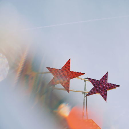 Fun Park Pair Star Stars Fade Fading Dissolving Multi Colored Arts Culture And Entertainment Sky
