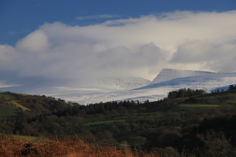 Winter in Wales, Carmarthen fans, Brecon Beacons Carmarthenshire Brecon Beacons Winter Landscape Winter Welsh Countryside Wales Snowy Landscape Snowy Mountains Snow Landscape Sky Nature Mountain Beauty In Nature Scenics No People Cloud - Sky Outdoors Grass Day