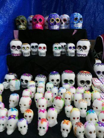 Multi Colored Mask Skulls And Bones Candy ❤ Desfile Dia De Muertos Mask Carnival Muertos Dulces Skulls💀 DIA DE MUERTOS