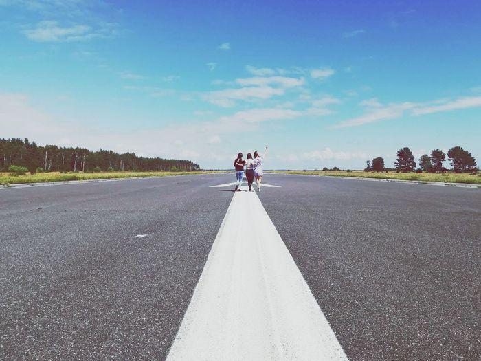 Full Length Road Cloud - Sky The Way Forward FRIENDSHIPGOALS Aerodrome Abandonedplaces