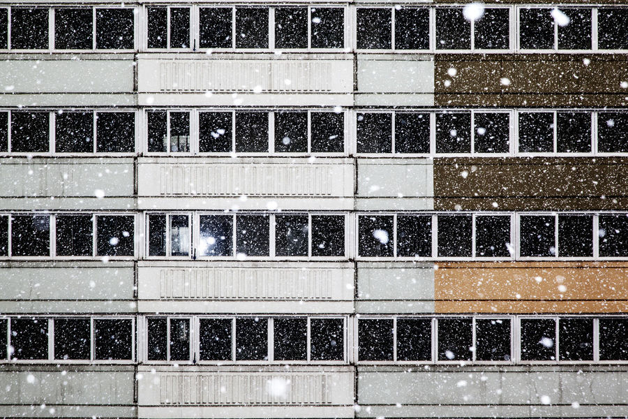 Apartment Brick Wall Building Exterior Closed Damaged Day Development Door Exterior Full Frame Geometry Glass Glass - Material House Indoors  Modern No People Showcase: December Snowing Structure Symmetry Transparent Urban Wall Window Market Bestsellers September 2016 Bestsellers Fresh On Market 2018
