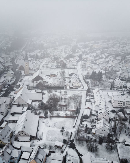 DJI X Eyeem December From Above  Houses January Unknown Weather Winter Aerial Photography Cold Temperature Contrast Day Dronephotography Flying Fog Landscape Outdoors Rural Area Small Town Snow Town White