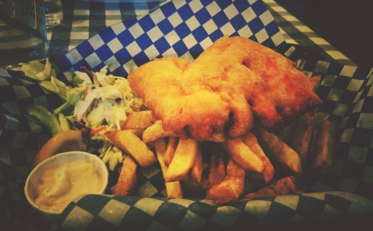 Fishˋn Chips Fish'n Chips Dinnerisserved Dinner For Two Dinner Last Night VancouverCanada Granville Island