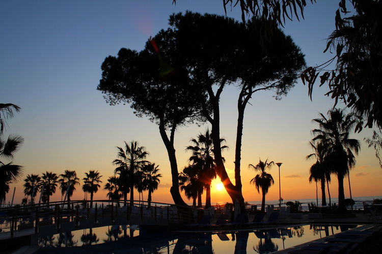 Albania Beach Beachphotography Beauty In Nature Growth Hotel Nature Night No People Outdoors Palm Tree Sea Silhouette Sky Sunset Swimming Pool Tourism Tourist Resort Travel Travel Destinations Tree Tropical Climate Vacations Visit Albania Water