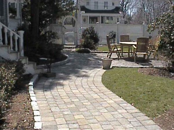 Absence Day Empty Footpath Grass Green Color Growth Hardscapes Landscape Design Landscaping Lawn Nature No People Outdoors Park Pathway Pavement Paver Patio Paver Walkway Paving Stone Plant Sunlight The Way Forward Tree Walkway