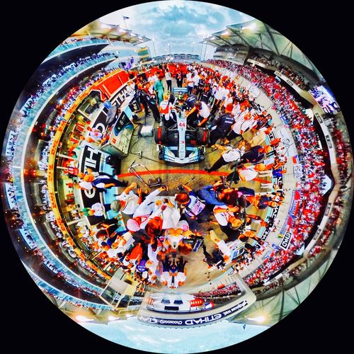 Planet Lewis Hamilton WOW Colorful Crowd 360 Tiny Planet Panoramic Mercedes F1 Lewis Hamilton Motor Sport Sports Photography Formula One Racing F1 Black Background Close-up Indoors  Multi Colored Sphere No People Shape