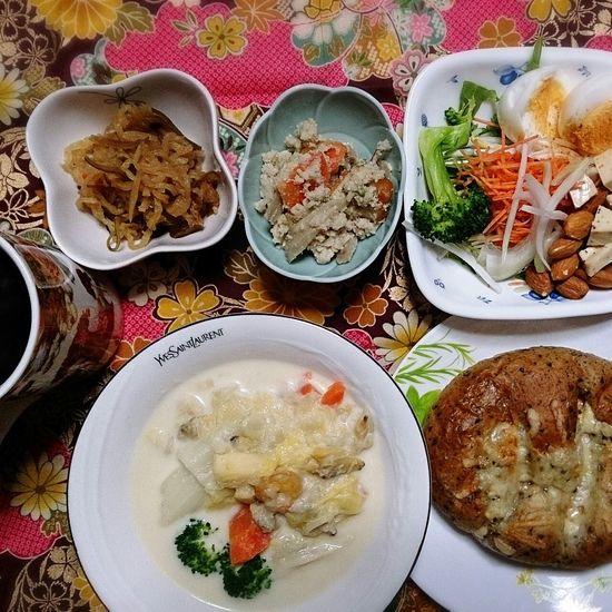 クラムチャウダー☆ Japanese Food Food Porn Clamchowder Dinner Yummy