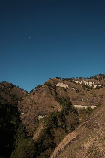 Clear Sky Moon Tranquility Sky Star - Space Nature Silence Landscape Night Outdoors No People Astronomy Astrology Sign Hiking Travel Nature Mountain Benguet Lush - Description Tree Tranquil Scene Mountain View Clear Sky Rural Scene Mountain Range The Great Outdoors - 2017 EyeEm Awards