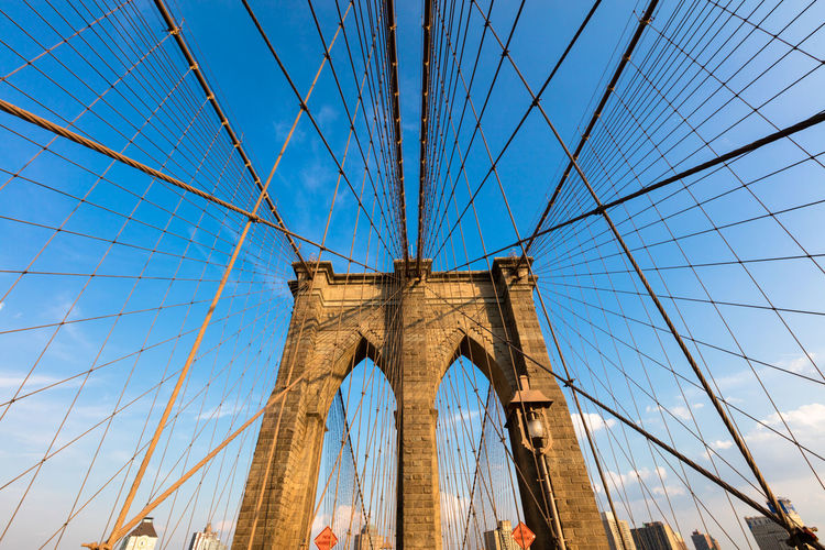 Architecture Bridge Bridge - Man Made Structure Brooklyn Bridge / New York Built Structure Cable Cable-stayed Bridge Connection Engineering Famous Place Footbridge International Landmark Long Modern Steel Cable Structure Suspension Bridge Transportation