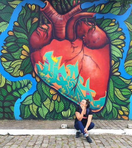 Beco Do Batman São Paulo Sp Brasil Representation Graffiti Lifestyles Leisure Activity Wall - Building Feature Women Outdoors Adult Side View Pattern Mural Young Adult My Best Photo