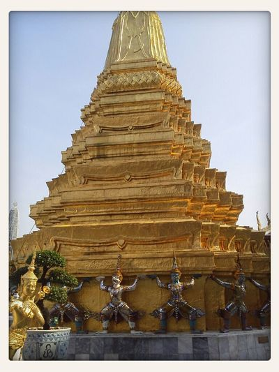 Gold Temple In Thailand.