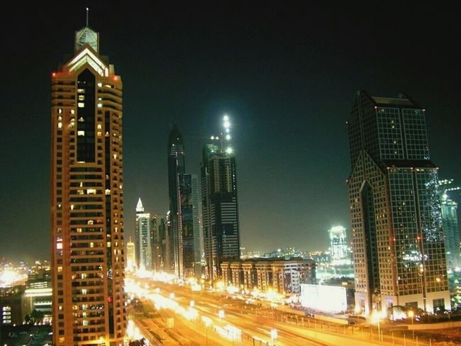 Night Illuminated Architecture City Travel Destinations Business Finance And Industry Skyscraper Cityscape Building Exterior No People Modern Outdoors Urban Skyline Sky Dubailife WhileIAmOnMove EyeEmNewHere Architecture Dubai Modern City Life