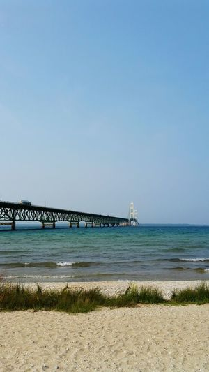 The Mighty Mac! MackinacBridge Lakehuron Greatlakes Puremichigan Mackinaw City, MI Straits Of Mackinac Mackinaw Bridge